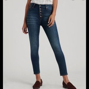 Lucky Brand Bridgette Skinny Exposed Button Fly
